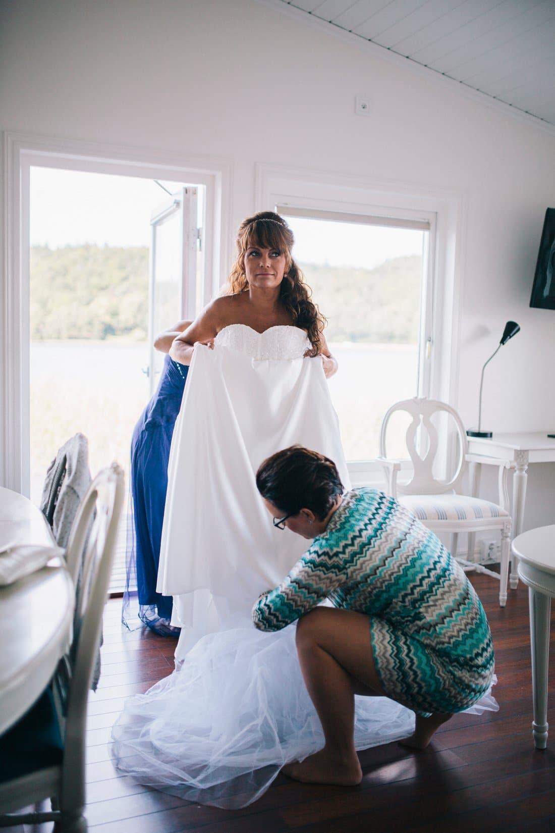 brud klänning hällsnäs