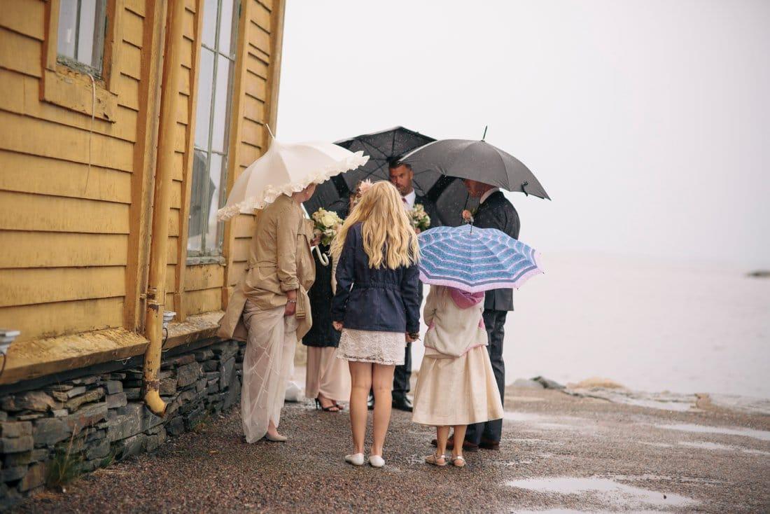 bröllop, regn, marstrand