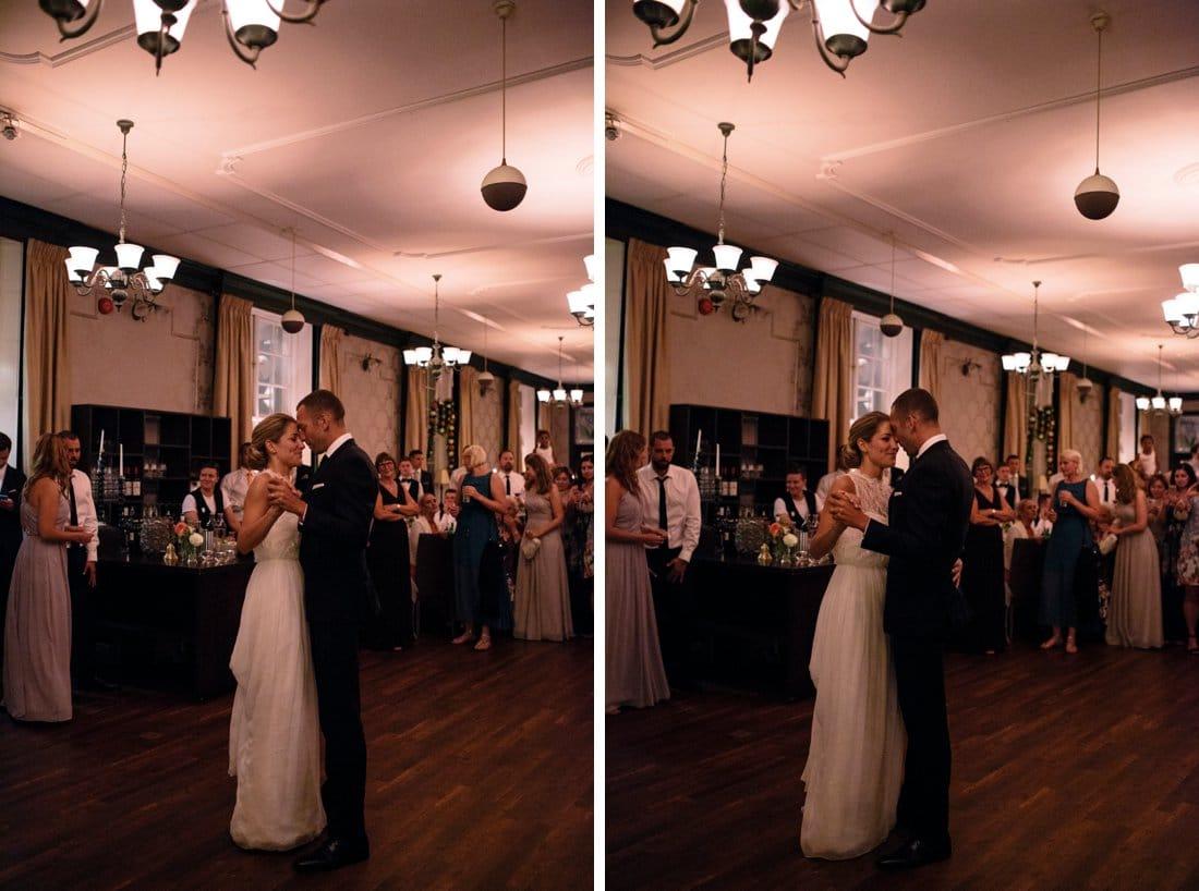 bröllop brudparets första dans