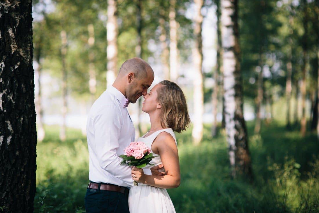 Bröllopsporträtt i magiskt ljus