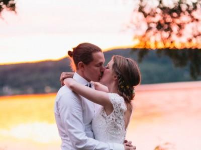 Bröllop i solnedgång